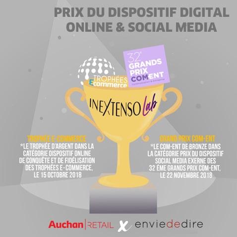 Prix du dispositif digital online & social media